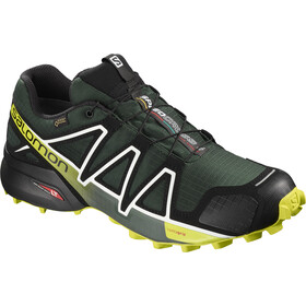 Salomon Speedcross 4 GTX Hardloopschoenen Heren, darkest spruce/black/acid lime